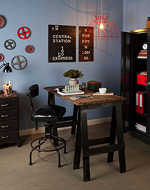 See how to create this industrial chic look