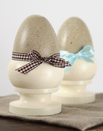 Wooden Eggs - Decorate your home this Easter with Tara's fun craft idea.