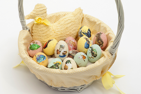 Tara Dennis Easter craft idea - decoupage eggs - a lovely Easter craft idea for the kids