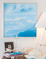see how to make seaside wall art