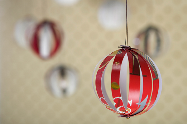 christmas card bauble